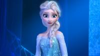 La Reine des Neiges (Disney) Elsa face palais de glace étonnement arrivée Olaf mini