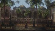 3x03 Mulan Aurore embrassade adieux palais de la Belle au Bois Dormant palmiers jardins