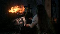 3x20 Zelena Méchante Sorcière de l'Ouest pyrokinésie boule de feu magique magie Dorothy Gale seau d'eau jet défense