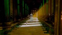 5x16 Toto Épouvantail Dorothy Gale dos couloir palais Cité d'Émeraude course fuite