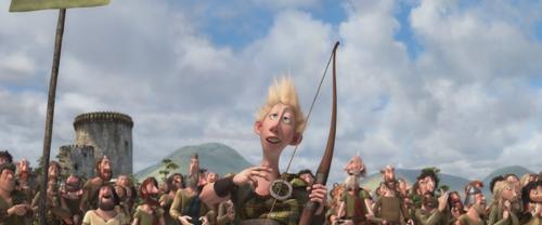 Rebelle Brave Disney héritier fils Lord Dingwall jeux tournoi tir à l'arc