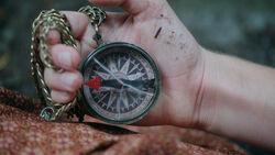Kompass des Holzfällers
