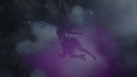 6x16 Fée Noire dos ailes vol nuages ciel Royaume des Ténèbres enlèvement kidnapping panier bébé nouveau-né Gideon