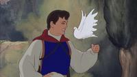 Blanche-Neige et les Sept Nains (Disney) 1937 Prince Charmant colombe sourire envol
