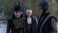 6x14 Reine Regina Henry Sr gardes noirs recherche Blanche-Neige forêt enneigée