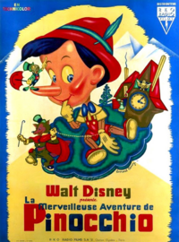 Pinocchio Disney 1940 affiche poster
