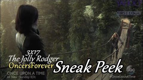 "Once Upon A Time 3x17 Sneak Peek 3 ""The Jolly Roger"" Regina Teaches Emma Magic CaptainSwan"