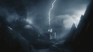 2x12 Monde sans couleur éclair manoir laboratoire Frankenstein