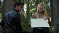 4x06 Killian Jones dos Emma Swan forêt découverte dessin