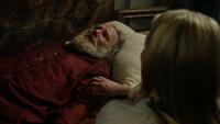 4x22 Apprenti Sorcier Emma Swan couché lit chevet nom Sorcier Merlin détruire ténèbres