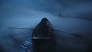1x10 lac nuit barque Blanche-Neige dos rames ponton