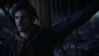 5x15 Killian Jones révolte tempête mer agitée bâteau Capitain Long John Silver
