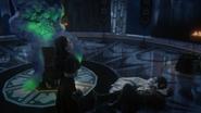 3x19 Reine Regina Blanche-Neige Prince David Charmant allongés sol nuage violet magie Sort noir Malédiction