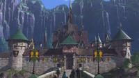 La Reine des Neiges (Disney) château Arendelle jour du couronnement mini