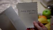 2x15 lettre Johanna (Storybrooke) anniversaire Blanche-Neige appartement de Mary Margaret Blanchard loft