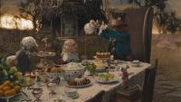 Alice au Pays des Merveilles 2010 film souvenir premier voyage enfant rencontre Lièvre de Mars Loir Chapelier Fou heure du thé