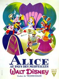 Alice au Pays des Merveilles in Wonderland Disney 1951 affiche poster