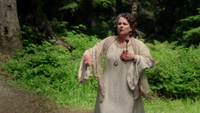 2x03 Ruth flèche empoisonnée poitrine sang buisson feuilles vertes