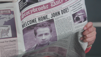 1x06 Storybrooke Daily Mirror page une édition du matin lundi 7 novembre 2011 Welcome Home, John Doe