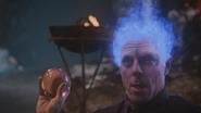 5x14 Hadès dieu des Enfers flammes bleues main boule de cristal ordre emprise domination