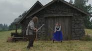 4x02 Prince Charmant David berger Anna ferme entraînement épée