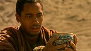 5x07 Merlin pouvoirs Saint Graal désert Camelot