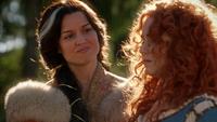 5x09 Reine Elinor réconfort Merida tombe Roi Fergus