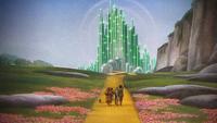 Le Magicien d'Oz (film) 1939 route de briques jaunes Palais Cité d'Émeraude Toto lion Dorothée Dorothy Gale homme bûcheron en fer blanc épouvantail