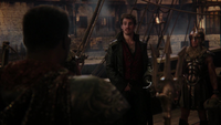 4x15 Killian Jones Capitaine Crochet Poséidon garde Jolly Roger demande coquillage voix Ursula voyage