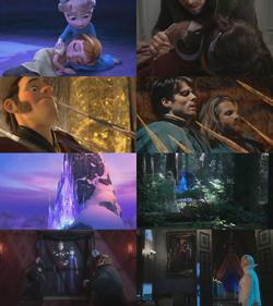 4x03 anecdotes références à Disney La Reine des Neiges Elsa Anna Marianne palais de glace Hans Westergard Roi Reine d'Arendelle