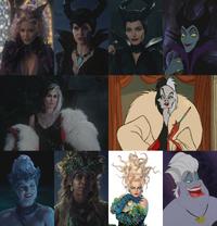 Maléfique Cruella d'Enfer Ursula évolution costume 4x11