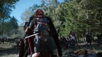 5x09 Roi Fergus mort meurtre assassinat guerre champ de bataille épée chevalier sang