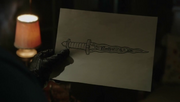 Shot 1x19 Dolch Zeichnung