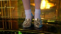 3x20 souliers d'argent pieds Dorothy Gale Palais Cité d'Émeraude Pays d'Oz cadeau du Grand Magicien