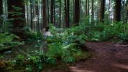 1x07 Blanche-Neige écriture lettre forêt enchantée mare point d'eau