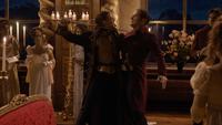 6x02 Edmond Dantès Comte de Monte-Cristo menace tuerie assassinat meurtre épée Baron Danglars mort vengeance revanche