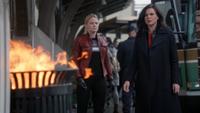 5x22 Emma Swan Regina Mills Boston poubelle flammes magie