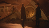 5x16 Hadès Zelena (Storybrooke) tour de l'horloge des Enfers effondrée offre monde destruction