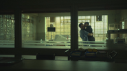 6x17 vue chambre hôpital de Storybrooke John Doe David Nolan Mary Margaret Blanchard baiser