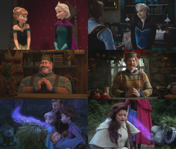 4x06 anecdotes références à Disney La Reine des Neiges Elsa Anna d'Arendelle Oaken Belle Grand Pabbie couronnement magie souvenirs