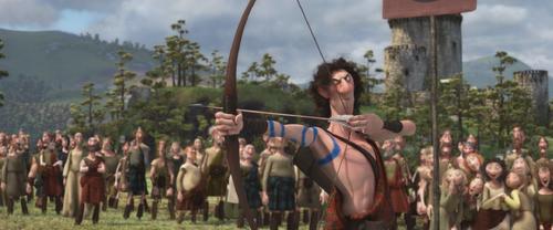 Rebelle Brave Disney héritier fils Lord Macintosh jeux tournoi tir à l'arc flèche