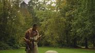 5x07 Merlin tour Royaume Camelot forêt enchantée arbres création apparition naissance magique