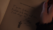 6x16 Son Beau Héros message Belle French