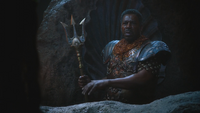 4x15 Roi Poséidon trident réprimande colère vengeance