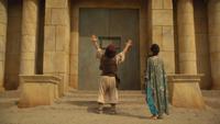 6x05 Aladdin Jasmine dos formule ouverture sésame porte Caverne aux Merveilles