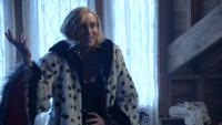 4x18 Cruella d'Enfer manteau de fourrure dalmatiens éclair ténèbres