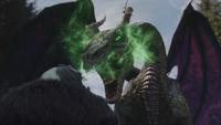 4x18 Cruella d'Enfer don de persuasion fumée verte Maléfique dragon