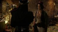 6x05 Jafar Aladdin caverne aux merveilles discussion avenir cadeau ciseaux des moires dos oiseau rouge oracle