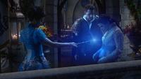 6x20 Fée Bleue Prince David Charmant Blanche-Neige baguette magique magie lueur lumière ventre