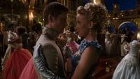 6x03 Prince Thomas Ella robe bleue danse bal royal